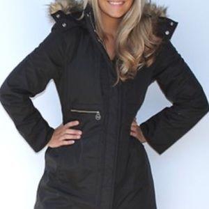 Michael Kors   Padded Winter Coat in Black